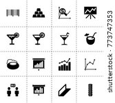 bar icons. vector collection...