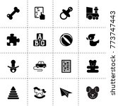 toy icons. vector collection... | Shutterstock .eps vector #773747443