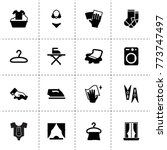 cloth icons. vector collection... | Shutterstock .eps vector #773747497