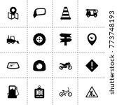 road icons. vector collection...