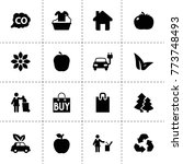 eco icons. vector collection...