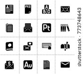 letter icons. vector collection ...