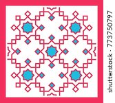 arabic pattern ornate vector... | Shutterstock . vector #773750797