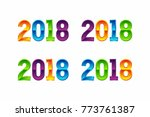 2018 colorful 3d | Shutterstock .eps vector #773761387
