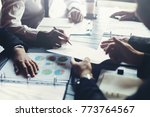 business teamwork discussing... | Shutterstock . vector #773764567