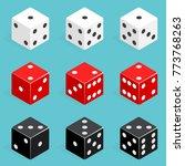 set of isometric dice...   Shutterstock .eps vector #773768263