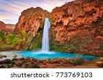 havasu falls at sunrise.   Shutterstock . vector #773769103