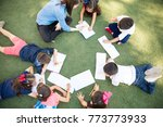 top view of a group of... | Shutterstock . vector #773773933