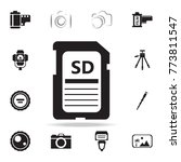 sd card icon with shadow. set...