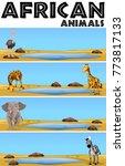 african animals in nature...   Shutterstock .eps vector #773817133