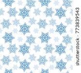 snowflakes pattern vector...   Shutterstock .eps vector #773839543