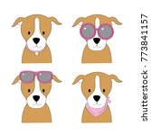 fashion cartoon cute american...   Shutterstock .eps vector #773841157