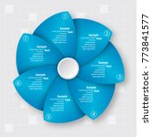 vector abstract 3d paper... | Shutterstock .eps vector #773841577