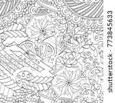 tracery seamless pattern.... | Shutterstock .eps vector #773845633