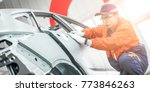 automobile manufacturing ...   Shutterstock . vector #773846263