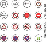 line vector icon set   airport... | Shutterstock .eps vector #773853913
