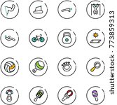 line vector icon set   power... | Shutterstock .eps vector #773859313