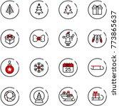line vector icon set  ... | Shutterstock .eps vector #773865637