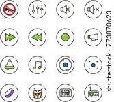 line vector icon set   no horn...   Shutterstock .eps vector #773870623