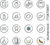 line vector icon set   diet... | Shutterstock .eps vector #773870857