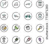 line vector icon set   power... | Shutterstock .eps vector #773871283