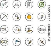 line vector icon set   power... | Shutterstock .eps vector #773872033