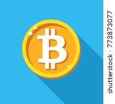 bitcoin coin icon  vector sign... | Shutterstock .eps vector #773873077