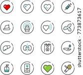 line vector icon set   heart... | Shutterstock .eps vector #773873617
