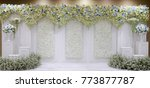 Stock photo wedding backdrop flower 773877787