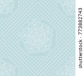 floral geometric lace ornament... | Shutterstock . vector #773882743