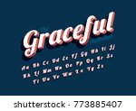 vector of modern stylized font... | Shutterstock .eps vector #773885407