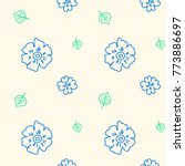 seamless pattern with... | Shutterstock .eps vector #773886697