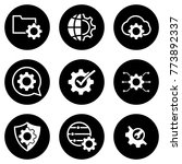 set of simple icons on a theme... | Shutterstock .eps vector #773892337