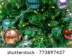 christmas tree decoration... | Shutterstock . vector #773897437