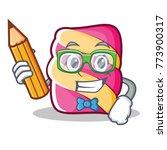student marshmallow character... | Shutterstock .eps vector #773900317