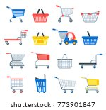 shopping cart vector shop... | Shutterstock .eps vector #773901847