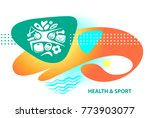 concept image for weight loss... | Shutterstock .eps vector #773903077
