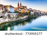 basel  switzerland. rhine river ...   Shutterstock . vector #773905177