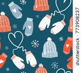 cute winter vector seamless... | Shutterstock .eps vector #773908237
