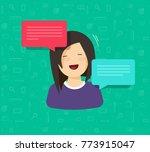 flat cartoon woman character... | Shutterstock .eps vector #773915047