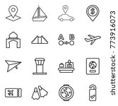thin line icon set   pointer ...   Shutterstock .eps vector #773916073
