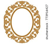 golden oval vintage border... | Shutterstock .eps vector #773916427