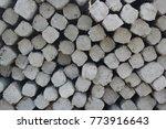 concrete piles background   Shutterstock . vector #773916643