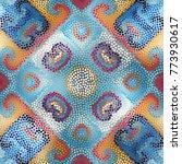 irregular dots pattern.... | Shutterstock .eps vector #773930617