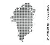 pixel map of greenland. vector...