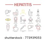 hepatitis line icon... | Shutterstock . vector #773939053