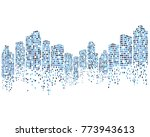 modern city skyline vector... | Shutterstock .eps vector #773943613