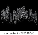 modern city skyline vector... | Shutterstock .eps vector #773943643