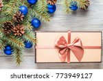 branches of a christmas tree... | Shutterstock . vector #773949127