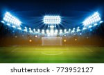 football arena field with...   Shutterstock .eps vector #773952127